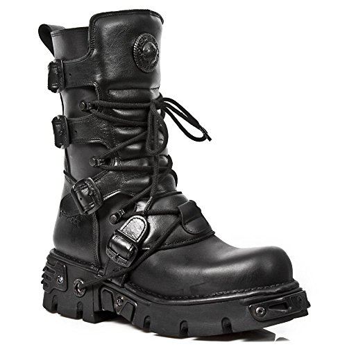 New Rock M 373 S18, Bottes Motardes Mixte Adulte Black