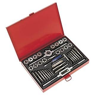 Sealey AK3040 40pc Tap and Die Set Split Dies-Metric, Red, 4 x 29.4 x 22.1 cm, Set of 40 Pieces