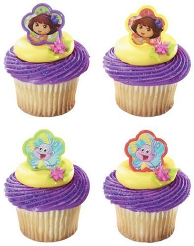 Dora the Explorer and Boots Cupcake Rings - 24 pcs by DecoPac by DecoPac
