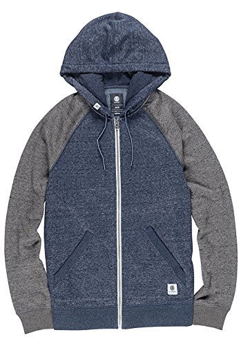 Element Meridian Block Zip Hoodie Blue