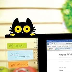 Memo-Pad multifunktionale Papier-Klebetafeln f/ür Computer-Bildschirme Free Size cat right Notizen Ladekabel Telefonnachrichten Memoboard Nachricht Computer-Monitor-Nachrichtentafel