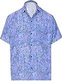 HAPPY BAY 3D HD Camicia Hawaiana per Il Tasto Uomini Giù Breve Maniche Vacanza Lavoro del Partito Aloha Casuale...