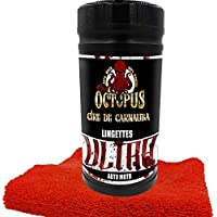 Red Octopus Lingette Moto Ultra Produit Moto Haut de Gamme à la Cire de Carnauba 80 + Microfibre Offerte