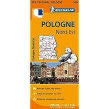 Carte Pologne Nord-Est Michelin
