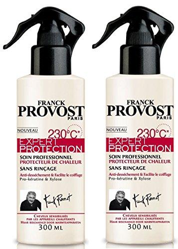 Franck Provost - Expert Protection 230°C Soin Professionnel Sans Rinçage Pour Cheuveux Sensibilités - 300 ml - Lot de 2
