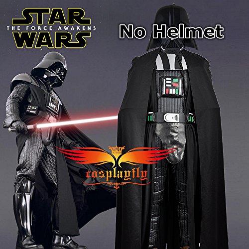 Imagen de 2016película star wars darth vader disfraz de versión cosplay personalizado negro para adulto halloween sin casco  alternativa