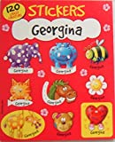 Personalised Name Stickers, 120 Sticker Pad - Georgina