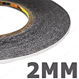 Buyyart New 2mm Wide Double Sided Layer Adhesive Sticky Tape Sticker for Mobile