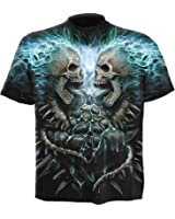 Spiral Flaming Spine T-Shirt black