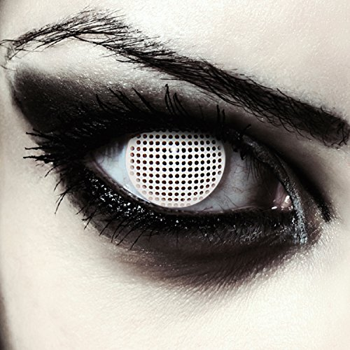 "Lentillas de color blanco para Halloween zombie lentillas sin dioprtías / corregir + gratis caso de lente ""White Screen"""
