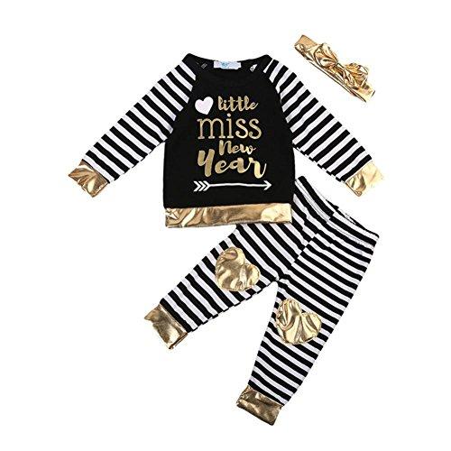 Babykleidung Longra Neugeborenen Baby Jungen Mädchen Brief Drucken Langarmshirt Tops + Gestreiften Hosen Baby 2018 New Outfits Kleidung Set (70CM 6Monate, (C Kostüme Ideen Partei)