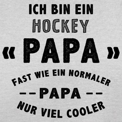 Ich bin ein Hockey Papa - Herren T-Shirt - 13 Farben Hellgrau