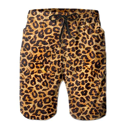 Rusty Herren Bademode (Personality Beach Pants Shorts Leopard Print Men's Swim Trunks Printed Quick Dry Board Shorts)
