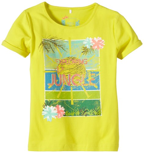 NAME IT Mädchen T-Shirt IBALISE MINI SS TOP 214 GER, Gr. 104, Grün (Green Sheen 13-0648 TCX)