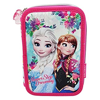 Disney Frozen Never Estuche Escolar Làpices de colores Plumier triple