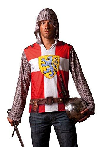 Seiler24 Cooles Ritter 3D Shirt Kostüm für Erwachsene Gr. (Kostüme Männer Dschungel Party)
