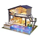 diuspeed miniatura DIY Hogar, hölzerne Tiempo Apartamento-pequeña casa de muñecas vacaciones para regalo de cumpleaños y heimtextilien