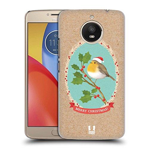 Head Case Designs Rotkelchen Weihnachtsklassiker 2 Ruckseite Hülle für Motorola Moto E4 Plus