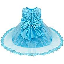 Freebily Vestido de Princesa Elegante para Niñas Bebés Vestido Infantil de Bautizo Fiesta Boda