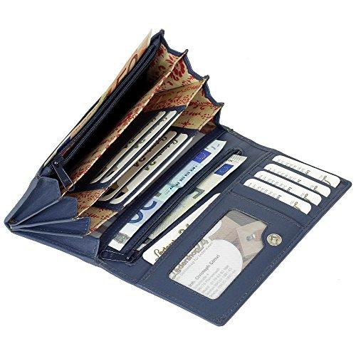 Portafoglio da donna in pelle portafoglio Branco donna borsa donna vers portafoglio. Disponibile in vari colori Blu