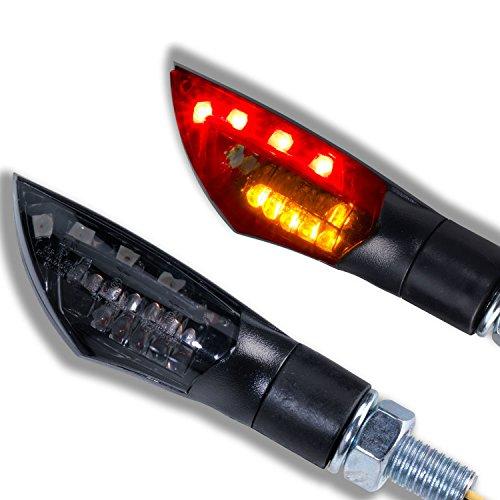 LED MOTORRAD MINI BLINKER RÜCKLICHT BREMSLICHT DUAL SMOKE QUAD ATV ROLLER TRIKE UNIVERSAL SCHWARZ SMOKE GETÖNT