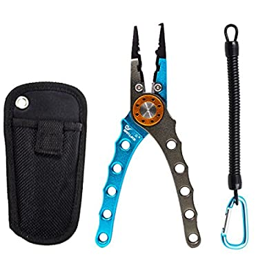 SANLIKE Aluminum Fishing Pliers Saltwater Fishing Line Braid Cutter Durable Fishing Tackle with Lanyard Multi Sea fishing Tool Hook Remover from DongGuan Sanlike Outdoor Products Co.,LTD