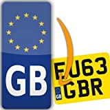 Car Motorbike Best Deals - Euro GB Motorbike Motorcycle Number Plate adhesive vinyl sticker Europe road-legal