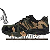 SUADEX Damen Herren Sicherheitsschuhe Sportlich Trekking Wanderhalbschuhe Stahlkappe Arbeitsschuhe Hiking Schuhe Traillaufschuhe  46 EU,  Grün