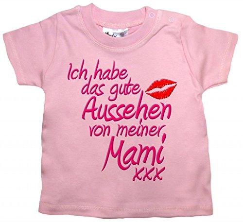 Dirty Fingers, Ich habe das Gute Aussehen von meiner Mami, Baby T-Shirt, 18-24m, Rosa
