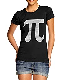 TWISTED ENVY PI Numbers In The Shape Of PI Women's Novelty Cotton T-Shirt