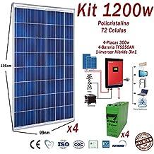 Kit 1200w 24v panel modulo fotovoltaico Completos Paneles+Inversor 3in1+Baterias