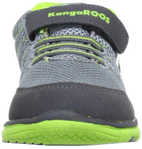 KangaROOS Nuri-Combo Unisex-Kinder Sneakers Grau (charcoal/lime 208)