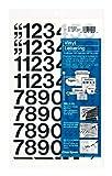 Chartpak Self-Adhesive Vinyl Numbers, 1 Inches High, Black, 44 per Pack (01130)