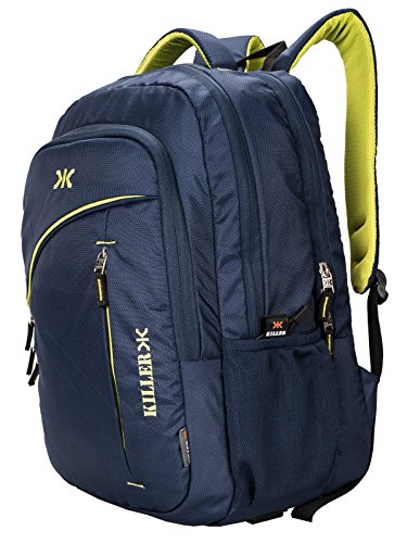 Killer Louis 38L Large Navy Blue Polyester Laptop Backpack with 3 Compartments Image 4