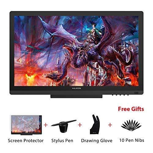 HUION KAMVAS GT-191 HD 19,5 Zoll Grafikzeichentablett-Monitor mit 8192 Druckstufen 1920 x 1080 Auflösung grafiktablett mit Display Stift-Display