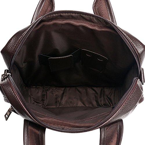 KYFW Männer Computer Tasche Business Aktenkoffer Schulter Diagonal Portable Trendy Einfache Vertikale Darkbrown