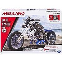 Meccano 6036044 - Set Costruzioni 5 Modelli Motocicletta, Pezzi in Metallo, 174 Pezzi
