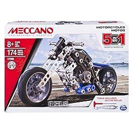 MECCANO- Set 5 Modelli Motocicletta, Pezzi in Metallo, 174, 6036044