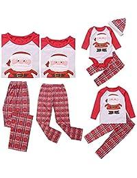 douleway Noël Famille Pyjama, Maman et Moi Assortis Enfants Bébé Pyjama Ensemble