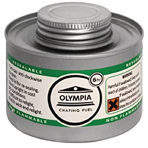 51eDByvbSgL. SS300  - Olympia CB735 Chafing Liquid Fuel, 6 hour, Silver (Pack of 12)
