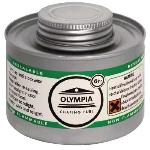 Olympia CB735 Chafing Liquid Fuel, 6 hour, Silver (Pack of 12)