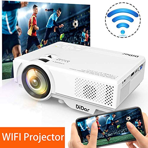 WIFI Proiettore DIDAR 3500LM Mini Portatile Wireless Videoproiettore, 5000 ore, Home Cinema Proiettore Supporto HDMI 1080p Full HD e AirPlay Miracast Wireless Display per Smartphone Tablet
