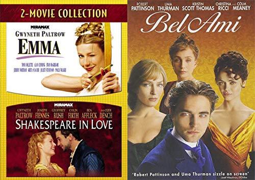Talk'n Bout Love: Emma/ Shakespeare In Love Gwyneth Paltrow & Bel Ami (3 DVD- Romantic Period Piece Movie Set)