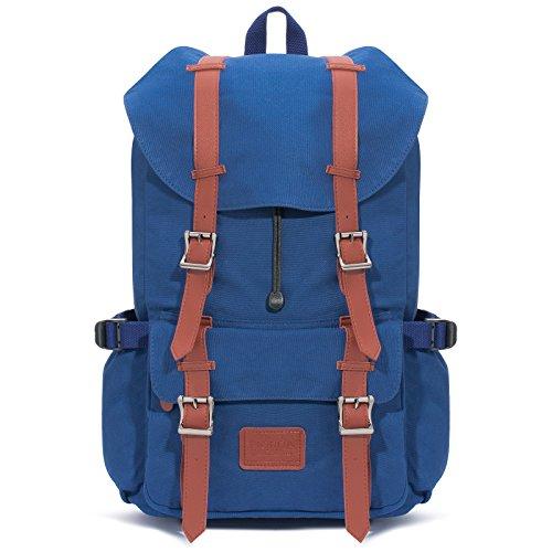 Fjorda Rucksack aus 100% Canvas wasserdicht als Handgepäck - Laptop und Notebook bis 17 Zoll Damen und Herren 23L - Ozean Blau