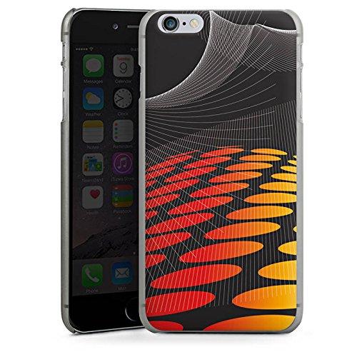 Apple iPhone X Silikon Hülle Case Schutzhülle Punkte Muster Dunkel Hard Case anthrazit-klar