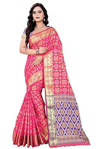 Inheart Women's Party Wear Patola Saree- Highest Quality Design and Banarasi Silk...