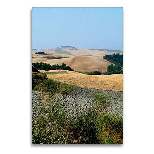 Calvendo Premium Textil-Leinwand 60 cm x 90 cm hoch, Crete | Wandbild, Bild auf Keilrahmen, Fertigbild auf echter Leinwand, Leinwanddruck: In der Toskana Orte Orte - Toskana Ferienhaus