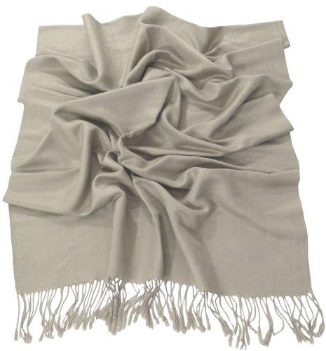 Visón Diseño Sólido Color Chal Pashmina Abrigo de la Bufanda de la...