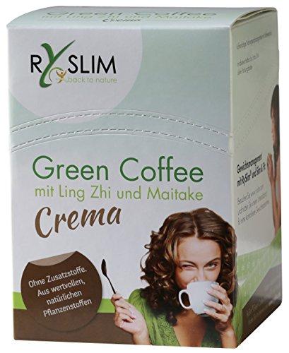 RySlim crema Green Coffee Grüner Kaffee mit Ling-Zhi (Reishi) und Maitake