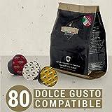Barista Italiano 80 Dolce Gusto kompatible Kapseln - Premium Geschmack (SORTENPACKUNG, 80 Kapseln, 80 Tassen, 3 Kaffeesorten)